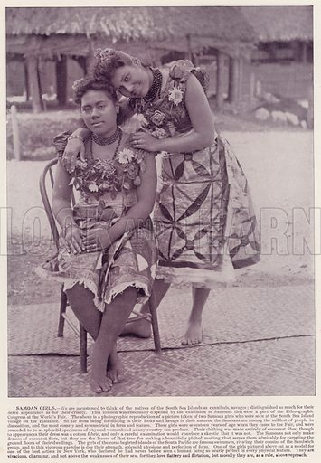 Samoan Girls. Illustration for The Magic City, a Massive Portfolio of Original Photographic Views of the Great World's Fair edited by J W Buel (Historical Publishing, 1894).