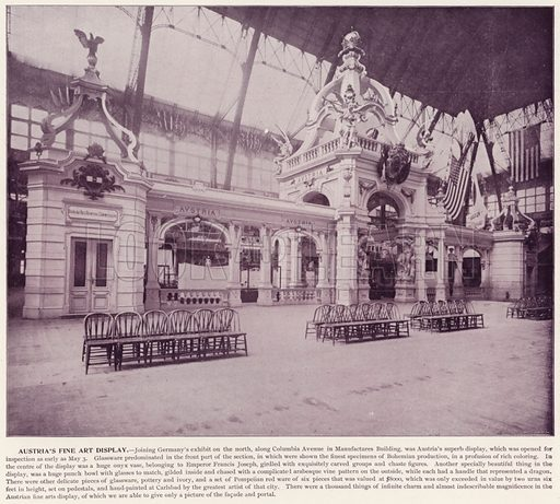 Austria's Fine Art Display. Illustration for The Magic City, a Massive Portfolio of Original Photographic Views of the Great World's Fair edited by J W Buel (Historical Publishing, 1894).