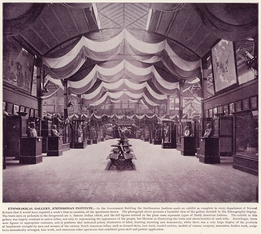 Ethnological Gallery, Smithsonian Institute. Illustration for The Magic City, a Massive Portfolio of Original Photographic Views of the Great World's Fair edited by J W Buel (Historical Publishing, 1894).