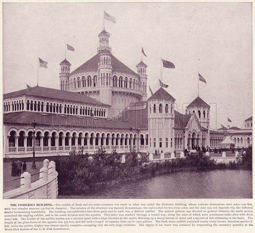 The Fisheries Building. Illustration for The Magic City, a Massive Portfolio of Original Photographic Views of the Great World's Fair edited by J W Buel (Historical Publishing, 1894).