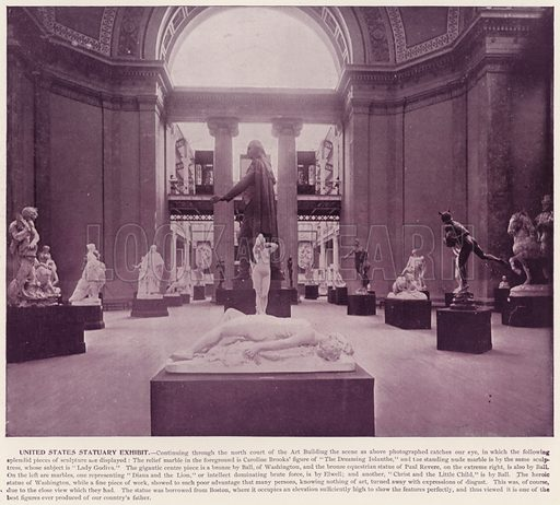United States Statuary Exhibit. Illustration for The Magic City, a Massive Portfolio of Original Photographic Views of the Great World's Fair edited by J W Buel (Historical Publishing, 1894).