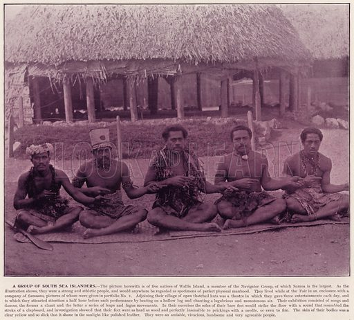 A Group of South Sea Islanders. Illustration for The Magic City, a Massive Portfolio of Original Photographic Views of the Great World's Fair edited by J W Buel (Historical Publishing, 1894).