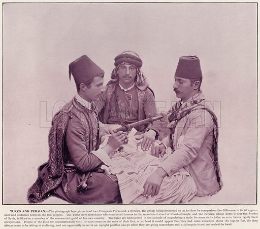 Turks and Persian. Illustration for The Magic City, a Massive Portfolio of Original Photographic Views of the Great World's Fair edited by J W Buel (Historical Publishing, 1894).