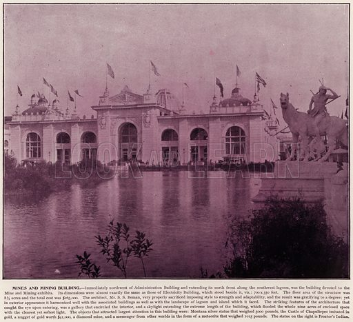 Mines and Mining Building. Illustration for The Magic City, a Massive Portfolio of Original Photographic Views of the Great World's Fair edited by J W Buel (Historical Publishing, 1894).