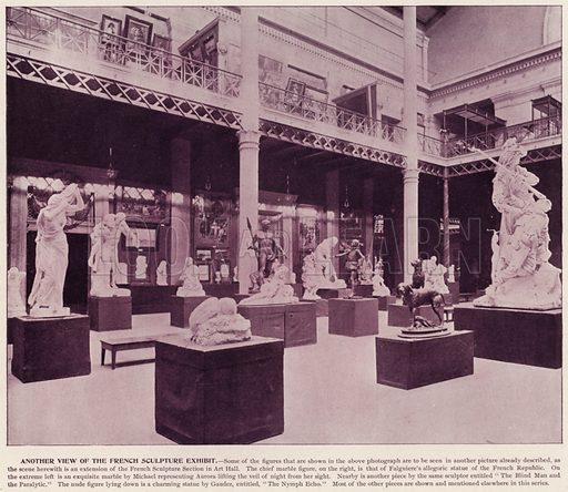 Another View of the French Sculpture Exhibit. Illustration for The Magic City, a Massive Portfolio of Original Photographic Views of the Great World's Fair edited by J W Buel (Historical Publishing, 1894).