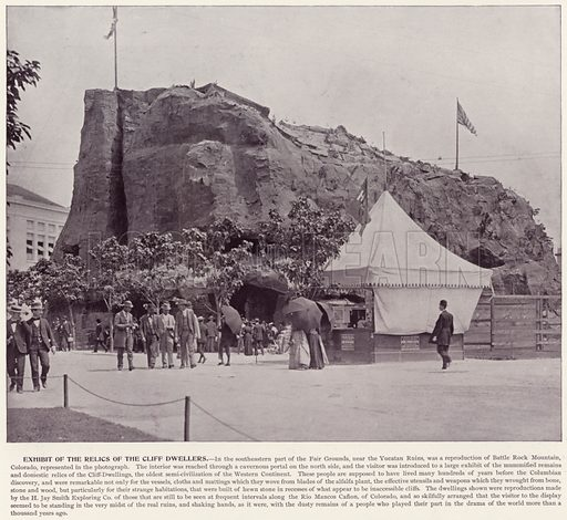 Exhibit of the Relics of the Cliff Dwellers. Illustration for The Magic City, a Massive Portfolio of Original Photographic Views of the Great World's Fair edited by J W Buel (Historical Publishing, 1894).