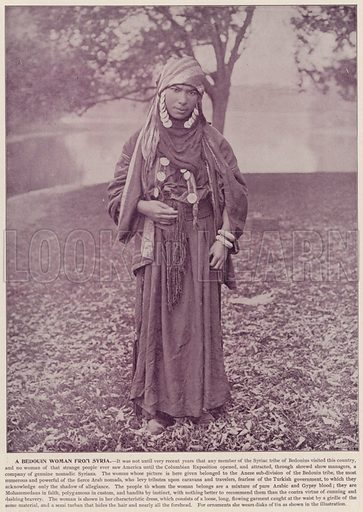A Bedouin Woman from Syria. Illustration for The Magic City, a Massive Portfolio of Original Photographic Views of the Great World's Fair edited by J W Buel (Historical Publishing, 1894).