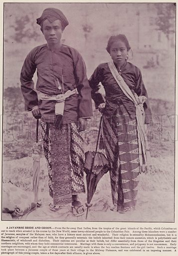 A Javanese Bride and Groom. Illustration for The Magic City, a Massive Portfolio of Original Photographic Views of the Great World's Fair edited by J W Buel (Historical Publishing, 1894).
