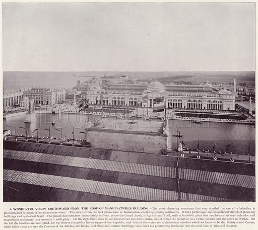 A Wonderful Vision Southward from the Roof of Manufactures Building. Illustration for The Magic City, a Massive Portfolio of Original Photographic Views of the Great World's Fair edited by J W Buel (Historical Publishing, 1894).