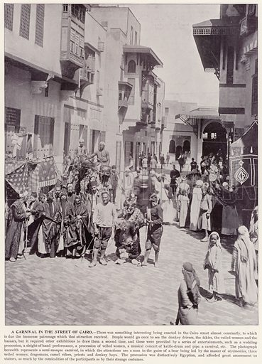 A Carnival in the Street of Cairo. Illustration for The Magic City, a Massive Portfolio of Original Photographic Views of the Great World