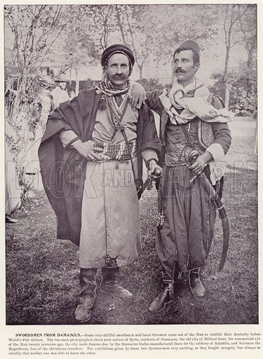 Swordsmen from Damascus. Illustration for The Magic City, a Massive Portfolio of Original Photographic Views of the Great World's Fair edited by J W Buel (Historical Publishing, 1894).