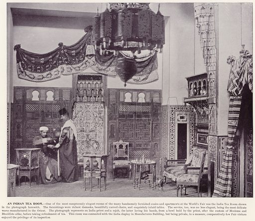An Indian Tea Room. Illustration for The Magic City, a Massive Portfolio of Original Photographic Views of the Great World's Fair edited by J W Buel (Historical Publishing, 1894).