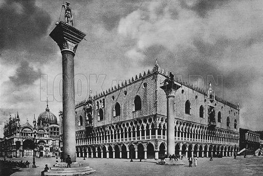 Venezia, Palazzo Ducale. Illustration for Ricordo di Venezia (np, c 1900).  Gravure printed.