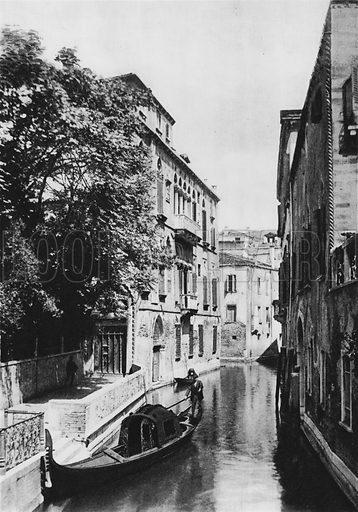 Venezia, Palazzo Van-Axel. Illustration for Ricordo di Venezia (np, c 1900).  Gravure printed.