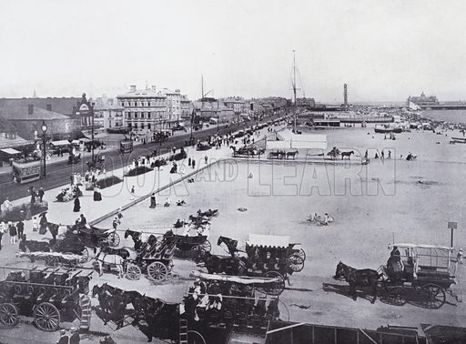 Yarmouth from the Lookout. Illustration for Photographic View Album of Yarmouth and District (Valentine, c 1895).