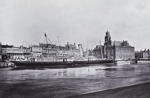 Harbour and Town Hall. Illustration for Photographic View Album of Yarmouth and District (Valentine, c 1895).