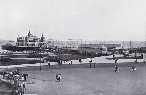 Britannia Pier. Illustration for Photographic View Album of Yarmouth and District (Valentine, c 1895).