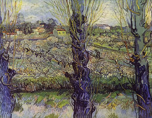 View of Arles, May 1889. Illustration for Vincent Van Gogh by L Goldscheider and W Uhde (Phaidon, 1945).