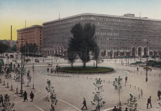 Marunouchi Building, Tokyo. Illustration for Selected Pictures of Mikado's Empire, Fine Souvenir for Visit to Japan, Coloured by Hand (np, c 1912).