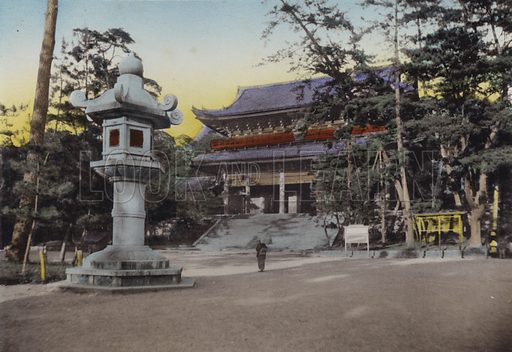 Chionin Budhist Temple, one of most influential sect in Japan. Illustration for Selected Pictures of Mikado
