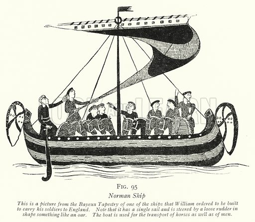 Norman Ship. Illustration for The Practical Junior Teacher edited by F F Potter (New Era, 1948).