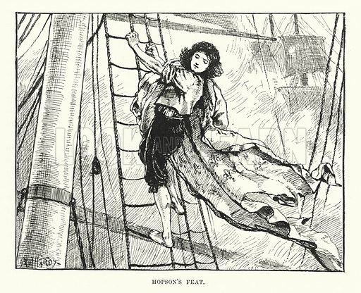 Hopson's feat. Illustration for World of Adventure (Cassell, 1895).