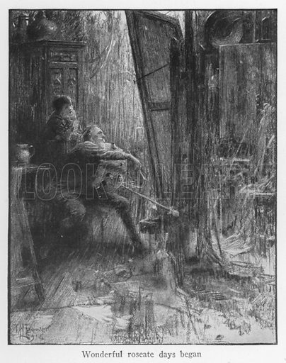 Wonderful roseate days began. Illustration for Boyhood Stories of Famous Men illustrated by M L Bower (Harrap, c 1920).
