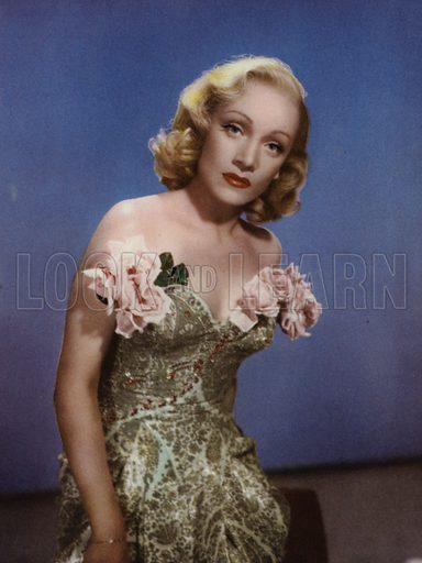 Marlene Dietrich. Illustration for Peter Noble