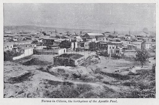 Tarsus in Cilicia, the birthplace of the Apostle Paul. Illustration for The Harmsworth Encylopaedia (c 1922).