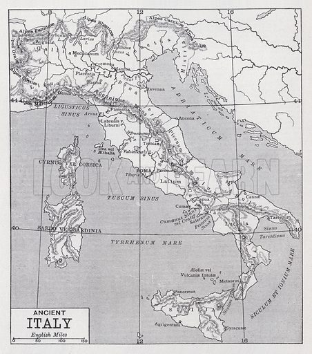 Ancient Italy. Illustration for The Harmsworth Encylopaedia (c 1922).