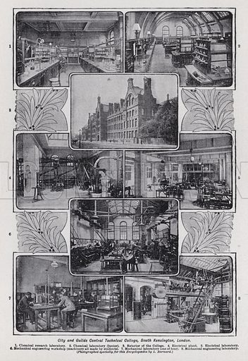 City and Guilds Central Technical College, South Kensington, London. Illustration for The Harmsworth Encylopaedia (c 1922).