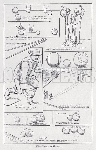 The game of Bowls. Illustration for The Harmsworth Encylopaedia (c 1922).