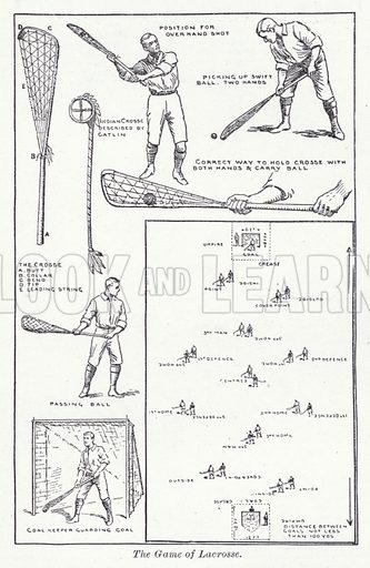 The game of Lacrosse. Illustration for The Harmsworth Encylopaedia (c 1922).