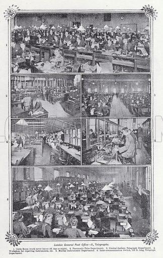 London General Post Office, Telegraphs. Illustration for The Harmsworth Encylopaedia (c 1922).