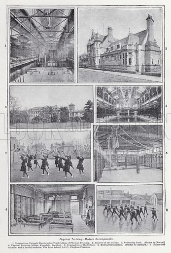Physical training, modern developments. Illustration for The Harmsworth Encylopaedia (c 1922).