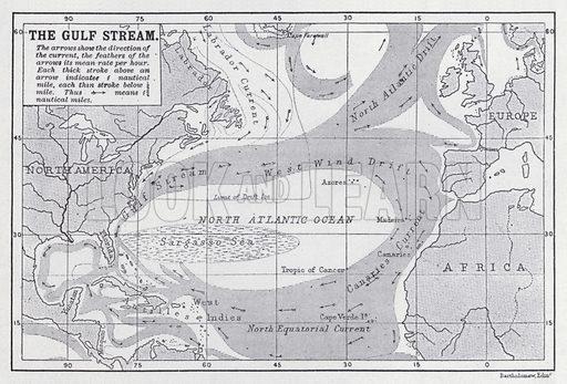The Gulf Stream. Illustration for The Harmsworth Encylopaedia (c 1922).