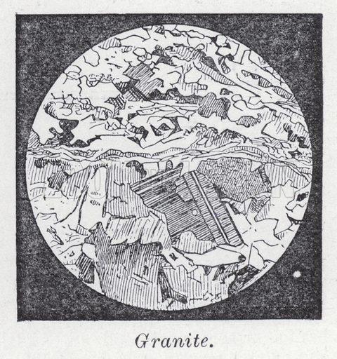 Granite. Illustration for The Harmsworth Encylopaedia (c 1922).