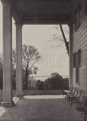East Portico. Illustration for An Illustrated Handbook of Mount Vernon, The Home of Washington (L Windsor House, 1899).