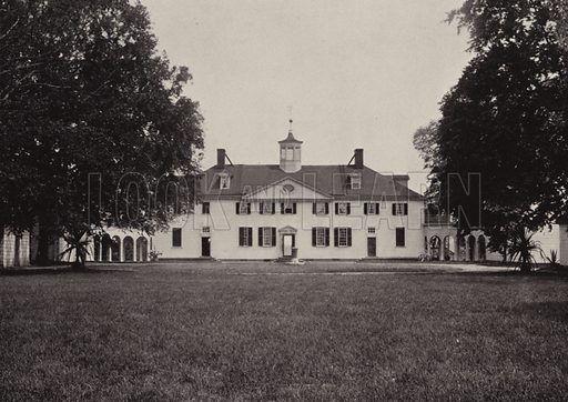 West Front. Illustration for An Illustrated Handbook of Mount Vernon, The Home of Washington (L Windsor House, 1899).
