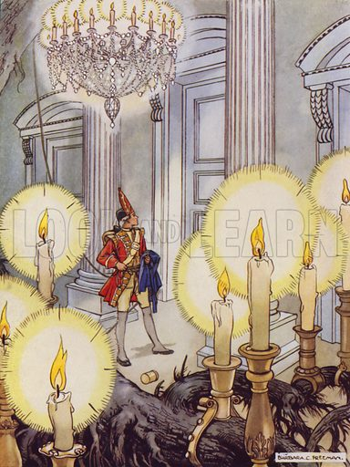 The Tinder Box. All those candles were burning. Illustration for Stories from Hans Andersen (Blackie, c 1950).