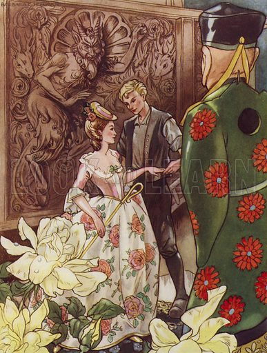 The Shepherdess And The Chimney Sweep. And they never ceased to love one another. Illustration for Stories from Hans Andersen (Blackie, c 1950).