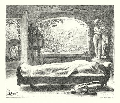 The Deserted House. Illustration of Poems by Alfred Lord Tennyson (Macmillan, 1893).