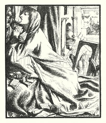 Mariana in the South. Illustration of Poems by Alfred Lord Tennyson (Macmillan, 1893).