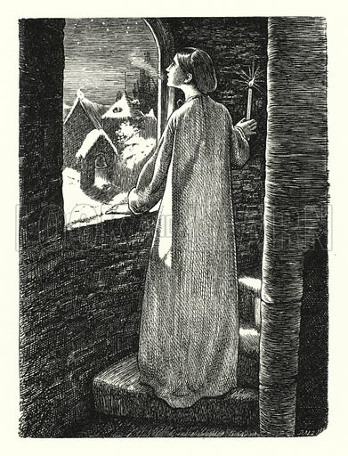 St Agnes' Eve. Illustration of Poems by Alfred Lord Tennyson (Macmillan, 1893).