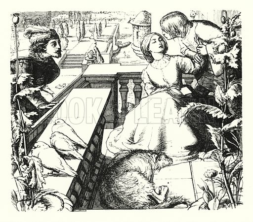 The Day-Dream. Illustration of Poems by Alfred Lord Tennyson (Macmillan, 1893).