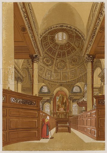 St Stephen's, Walbrook. Illustration for Old England's Worthies by Lord Brougham (James Sangster, nd).