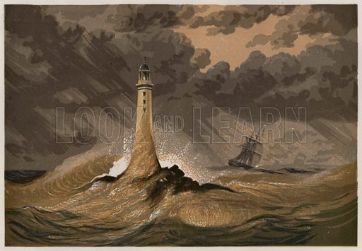 Smeaton's Eddystone Lighthouse. Illustration for Old England's Worthies by Lord Brougham (James Sangster, nd).