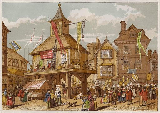 The Shakspere Jubilee at Stratford-upon-Avon. Illustration for Old England's Worthies by Lord Brougham (James Sangster, nd).