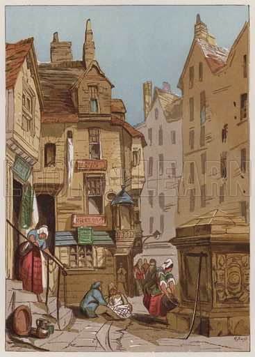 House of John Knox, Edinburgh. Illustration for Old England's Worthies by Lord Brougham (James Sangster, nd).