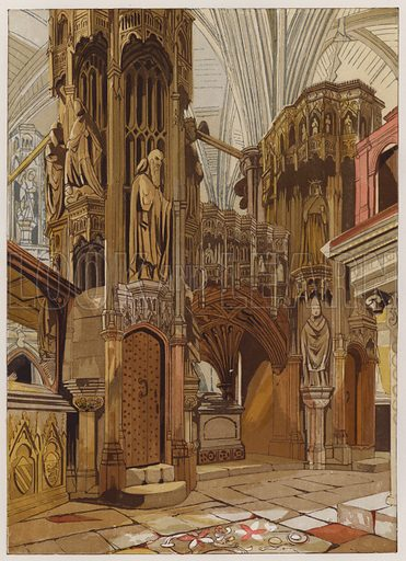 Shrine of Henry the Fifth. Illustration for Old England's Worthies by Lord Brougham (James Sangster, nd).